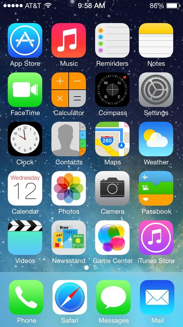 IOS7 desktop