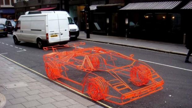 La Lamborghini fatta col fil di ferro