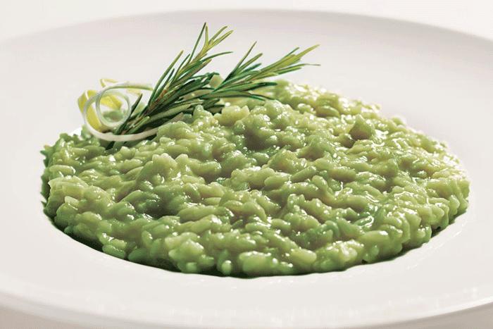 spinaci risotto